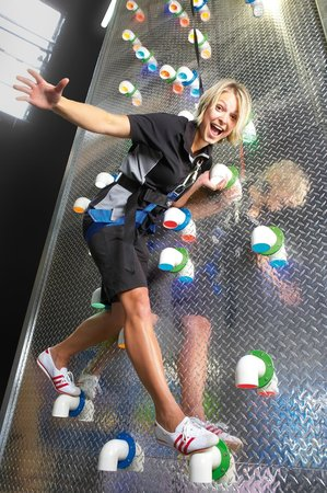 The Roxx Climbing Centre: 'Checkerplate' in Clip 'N Climb