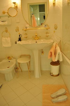 Hotel Schloss Dürnstein: バスルーム可愛すぎ