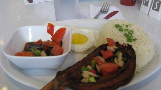 Rosalinda's: Dasilog (fried fish ,egg with fried rice)