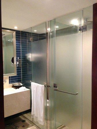 Ramada Plaza Zhengzhou: Almost transparent bathroom