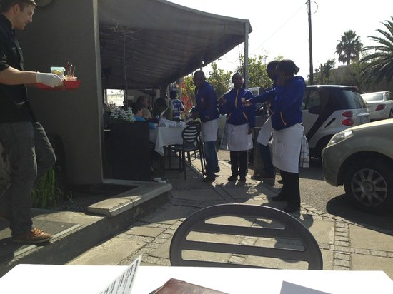 Cnr Cafe Bistro and Deli : The friendly waiters await you as you arrive