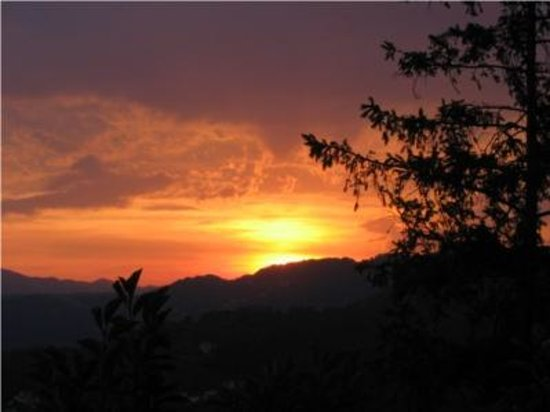Villa Ducci Bed & Breakfast: sunset view