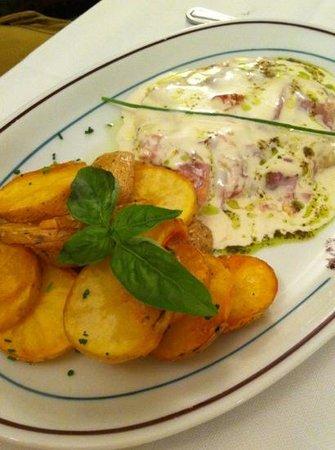 Trattoria da Massimino : cotoletta alla bolognese con patate