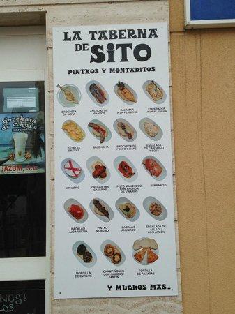 "La Taberna de Sito: La ""carta"" de Sito."