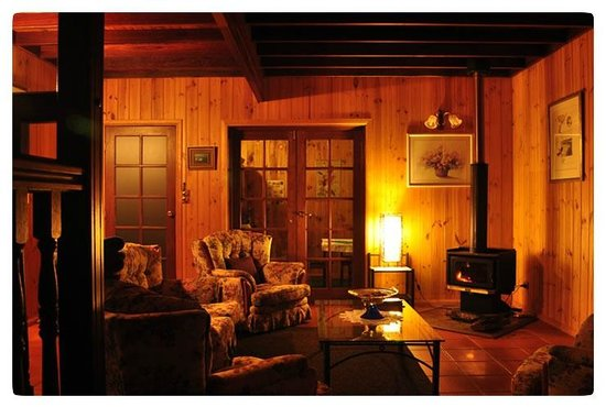 Peppertree Cottage : Loungeroom with fire