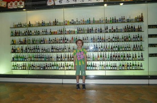tsingtao beer museum beer bottle collection picture of qingdao