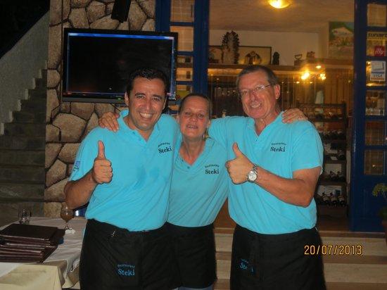 Steki Restaurant : het personeel