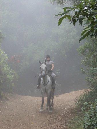 Quinta do Riacho: Riding in the mountains through a big cloud