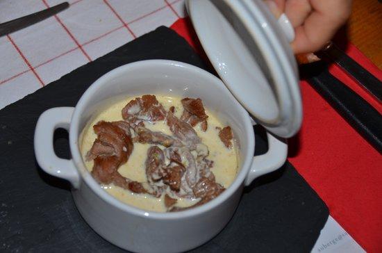 Auberge du Sanetsch: Bœuf cuisson basse température, servi en mode pot-au-feu, surprenant...