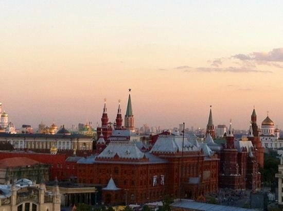 Ararat Park Hyatt Moscow: amazing view from rooftop lounge/bar