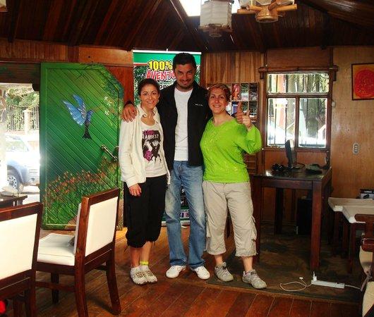 Camino Verde Bed & Breakfast Monteverde: Con Jose el propietario