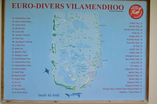 Vilamendhoo Island Resort & Spa: A selection of dive sites