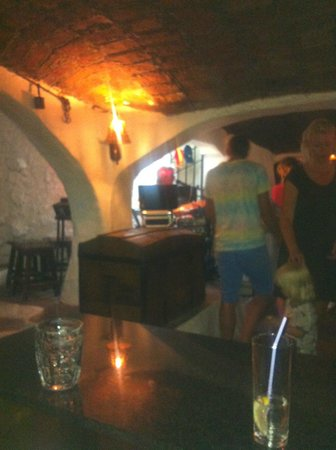 El Capistrano Villages: inside the cave bar which was about 1 minute away from our apartment
