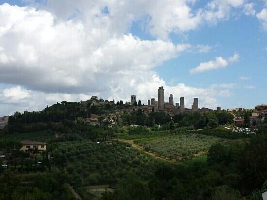 Primetta House: vista di san Gimignano
