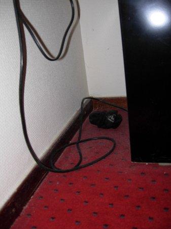 Bastion Hotel Amsterdam Amstel : Polvere e calzino sotto il tavolo