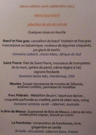 Aux petits Oignons: Le Menu Gourmand du mois d'août 2013
