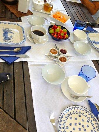 Ca d'Ancioa bed and breakfast : Tavolo Colazione