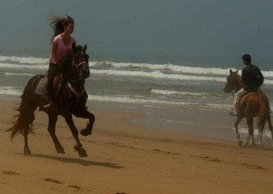 Windy Kaouki : Practica de montar a caballo