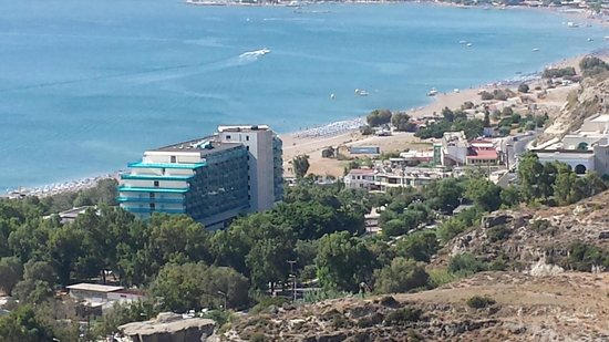 Hotel Calypso : view of the hotel (mountain view)