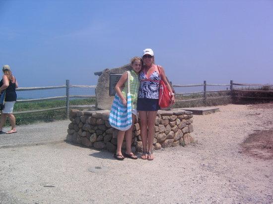 Martha's Vineyard Tours and Excursions: Lisa and Logan on a tour at Martha's Vinyard