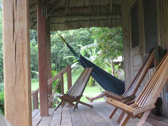 La Milpa Field Station: The verandah of our cabana at LaMilpa