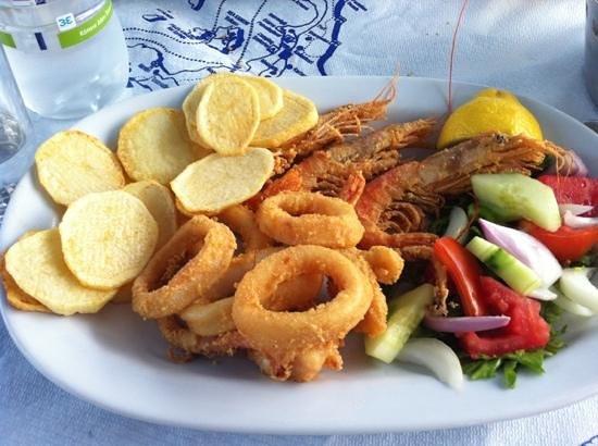 Alexis taverna: calamari fritti e gamberi