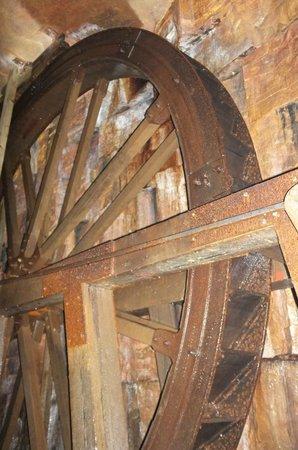 Killhope Lead Mining Museum: The underground water wheel