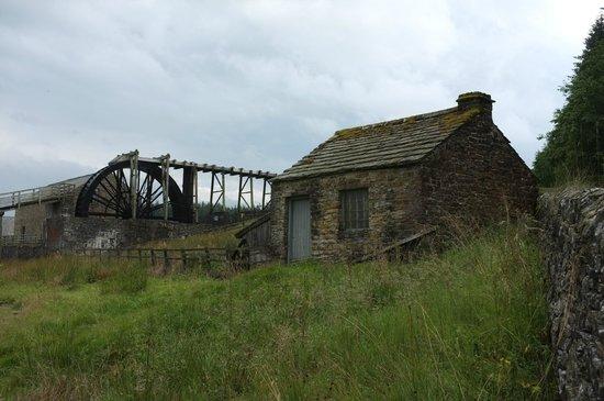 Killhope Lead Mining Museum: The above ground water wheel