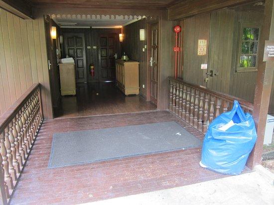 Century Langkawi Beach Resort: Trash at the room entrance