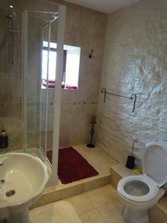 The Cedars B&B: The bathroom is almost bigger than our flat in London haha