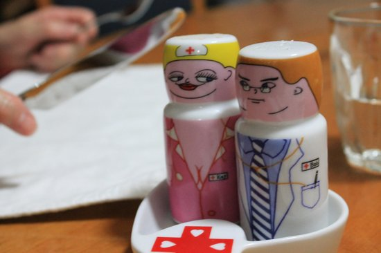 Mount St. Paul Estate: Hillary and Peters delightful sense of humour...our randy salt and pepper shakers!  (c) digiadve