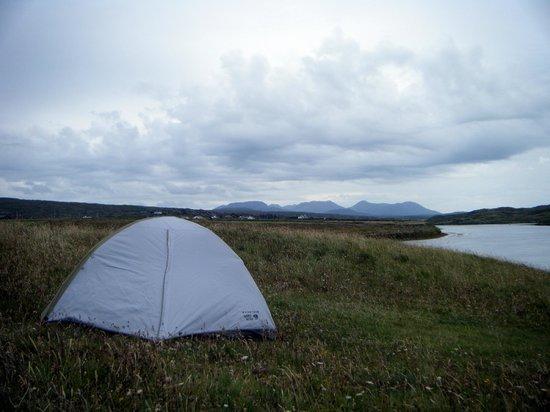 Clifden ecoBeach Camping & Caravanning Park : View to the east - Twelve Bens.