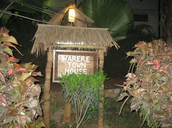 Warere Town House: Welcome sign