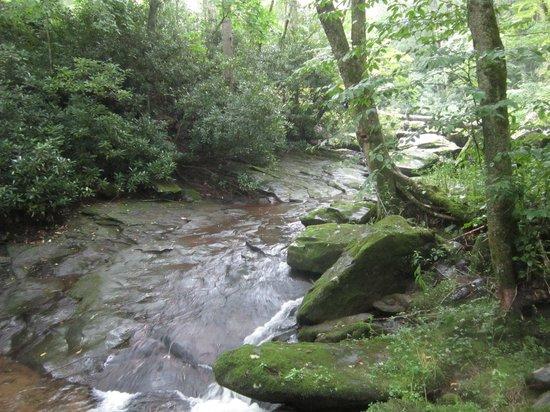 Cherokee Mountain Cabins: Creek