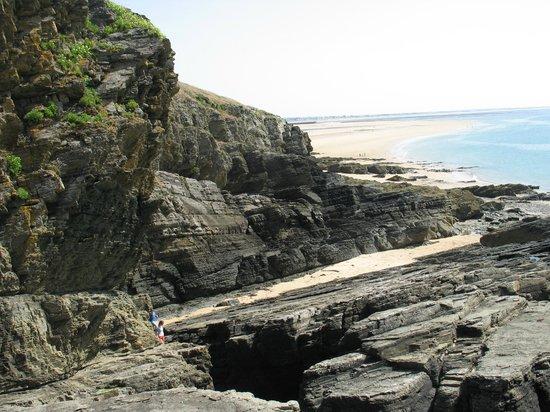 Cap Carteret: Vue des sentiers rocheux
