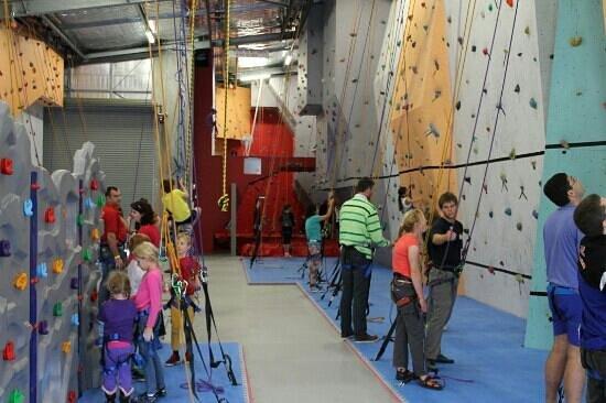 Climbing Naturaliste: There's even a little kiddies wall!