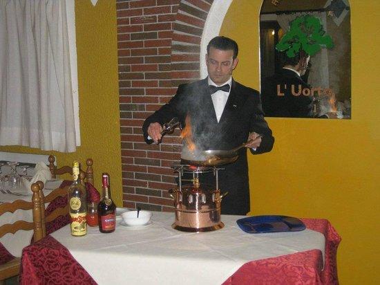 cucina flambè - picture of ristorante l'uorto, policastro ... - Cucina Flambè