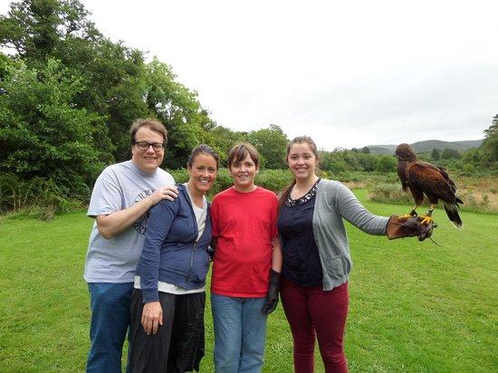Killarney Falconry : Family hawk walk with