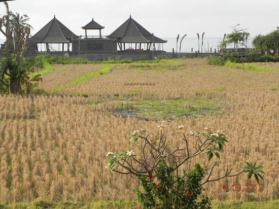 Swan Keramas Bali Villas: View to the beach and new restaurant