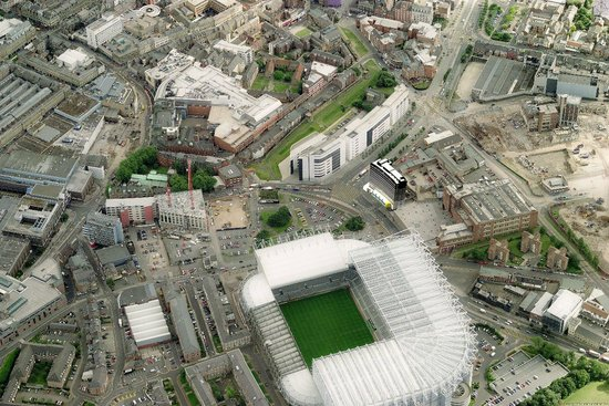 Shark Club - Newcastle: Aeriel view, right next to St James' Park. perfect place for a pint on match day!