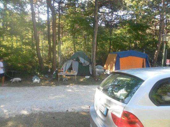 Camping Sabbiadoro: Tende nei posti auto