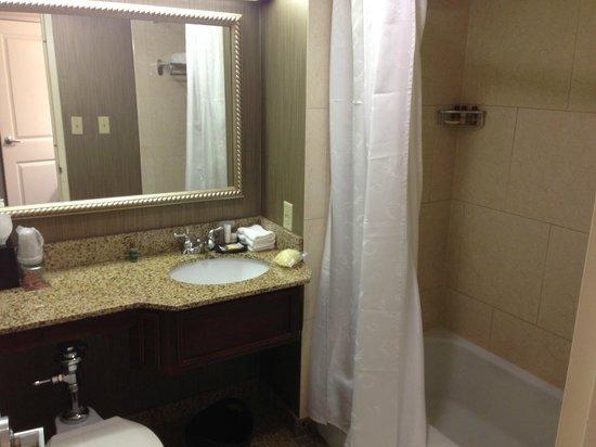 Sheraton Indianapolis City Centre Hotel: Suite Bathroom area.