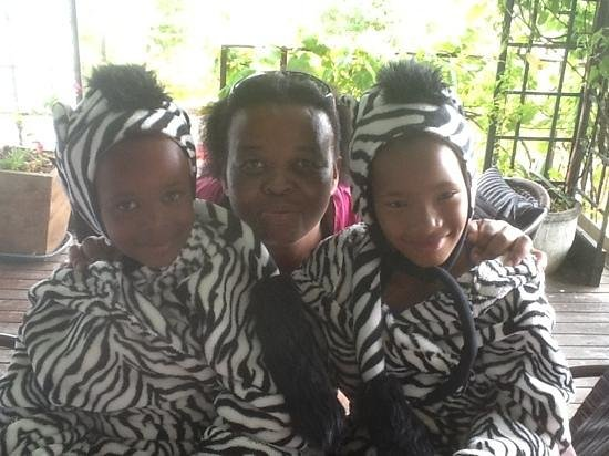 Impangele B and B & Self Catering Cottage: Housekeeper Beauty with some baby zebras