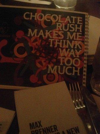 Max Brenner: menu!