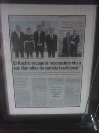 Meson El Rastro: Premios al restaurante