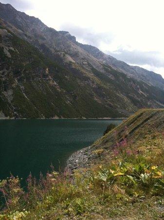 Ristoro Fopel: la vista sul lago di Livigno
