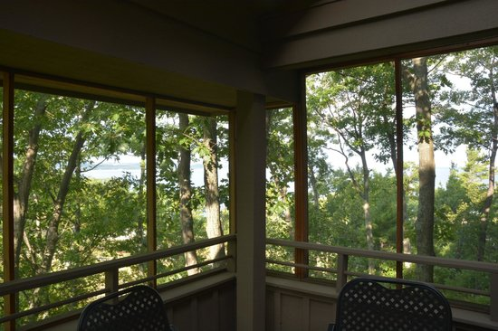 The Homestead: View from the screened porch