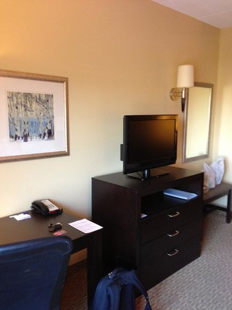 Holiday Inn Express Hotel & Suites Nashville - Opryland: Nice desk and free interrnet.