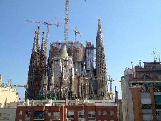 Sensation Sagrada Familia: vue du salon sur la sagrada