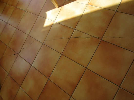 Les Agapanthes: cracking floor